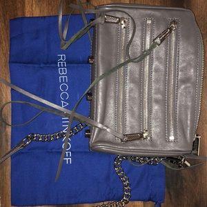 Trendy Grey Rebecca Minkoff bag!